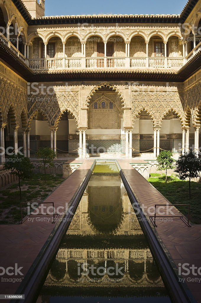 Sevilla's Alcazar stock photo
