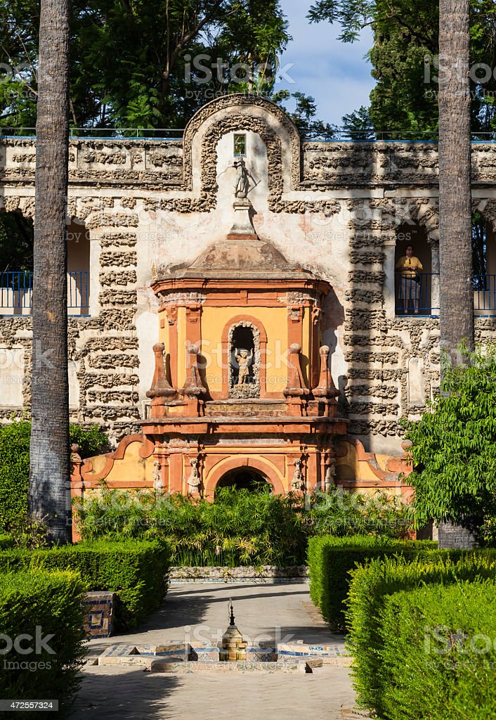 Seville Alcazar Garden stock photo