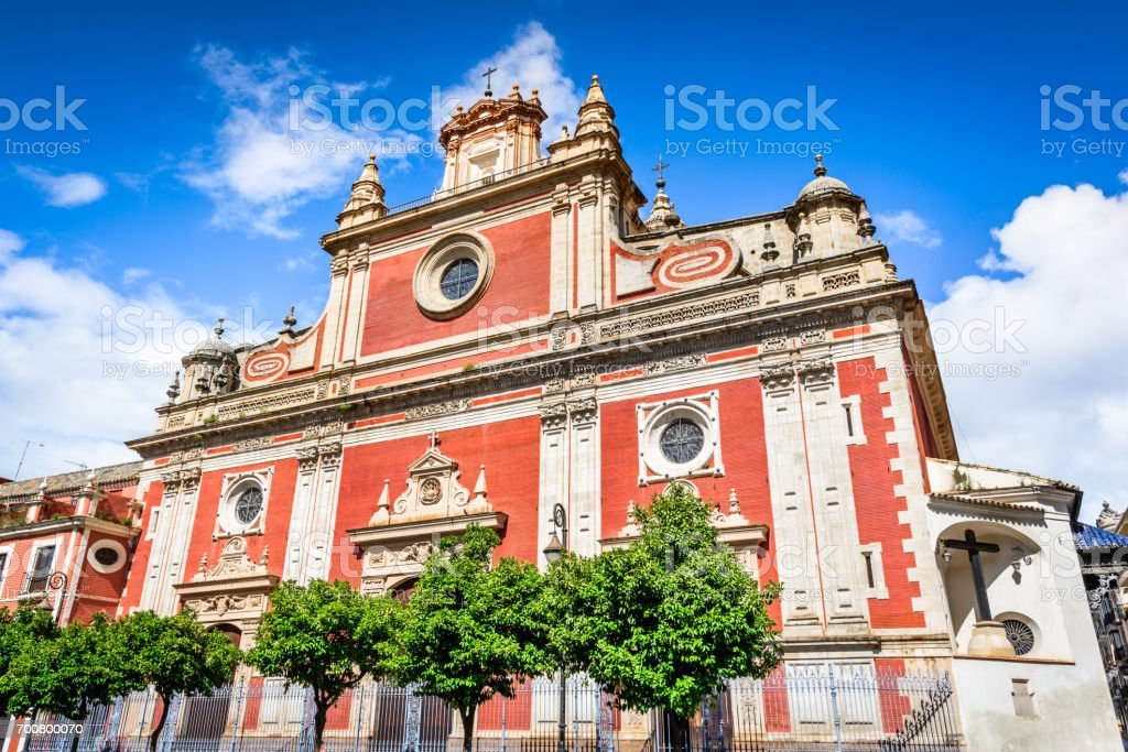 Seville, Andalusia, Spain - El Salvador Church stock photo