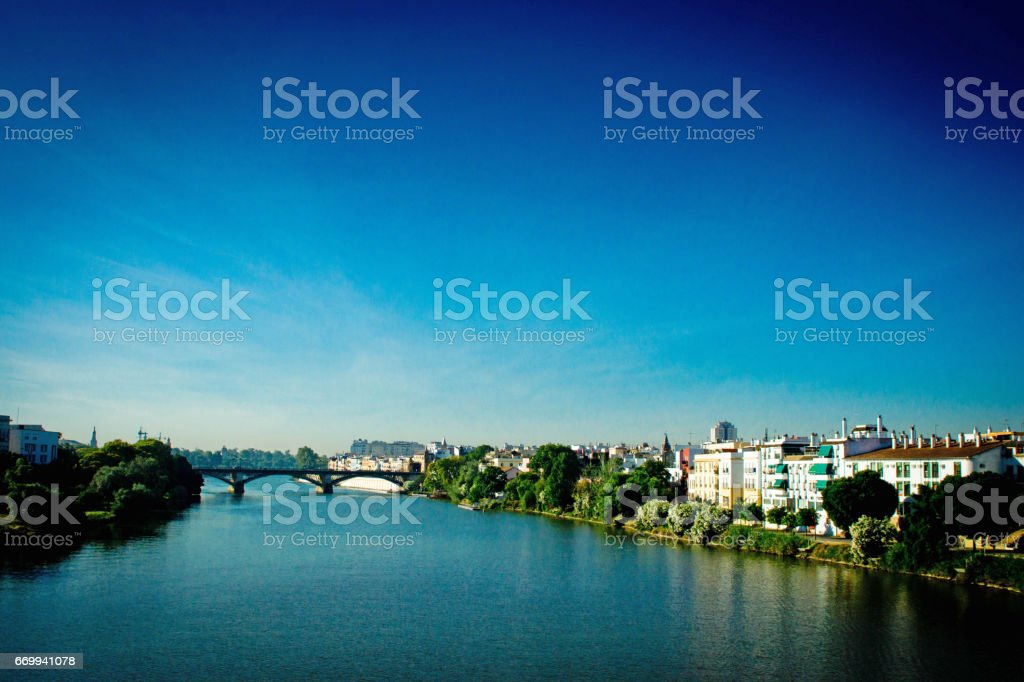 Seville at dawn stock photo