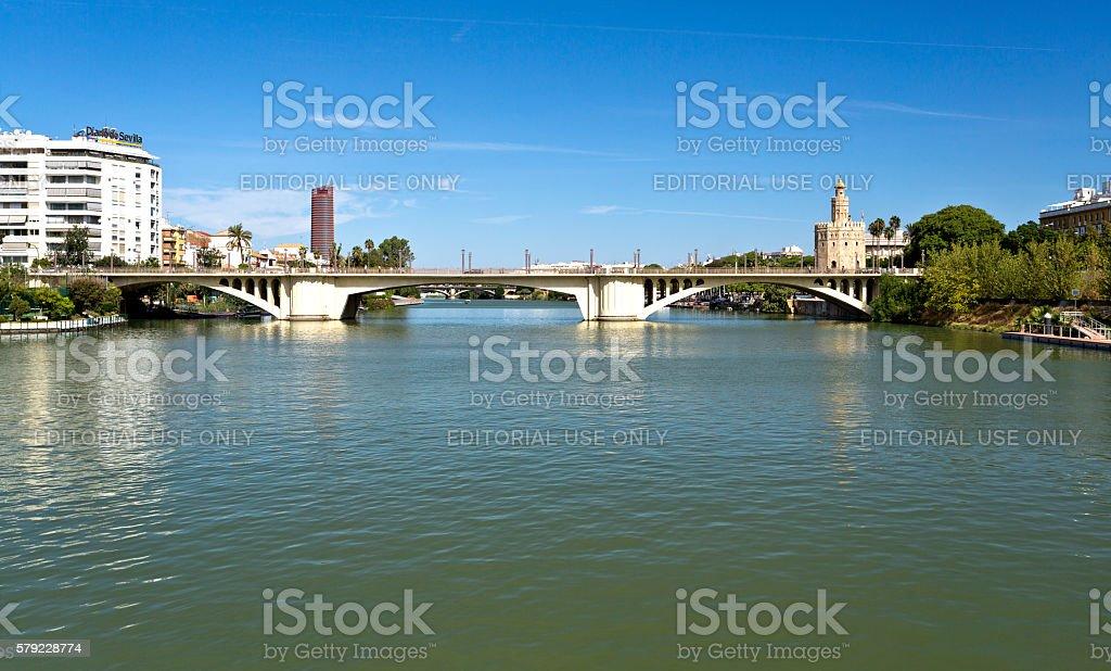 Seville Bridges of the Guadalquivir stock photo