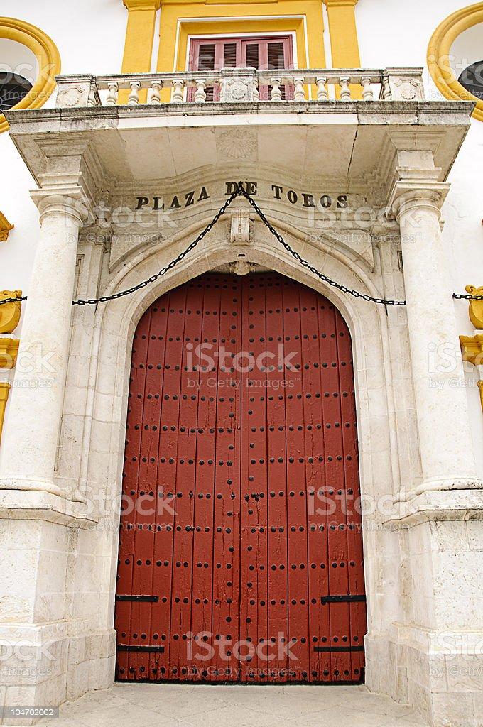 Seville bullring - Main entrance door royalty-free stock photo