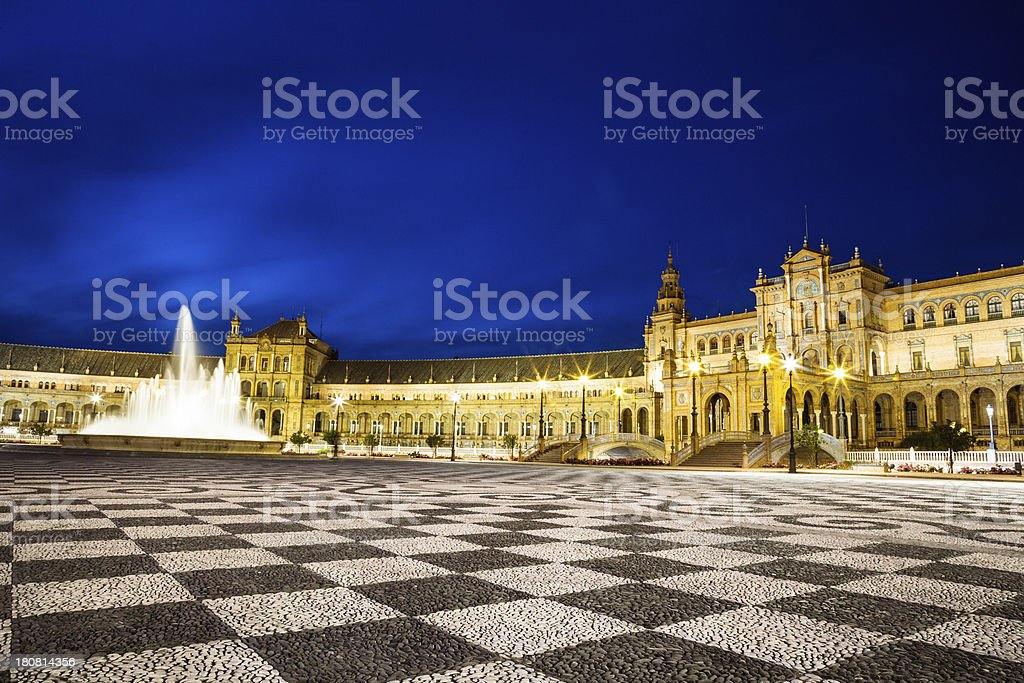 Seville by night royalty-free stock photo