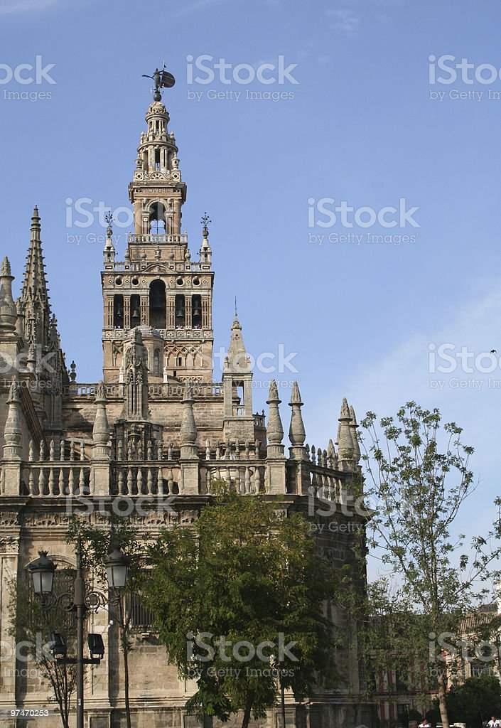 Seville Cathedral and La Giralda. royalty-free stock photo