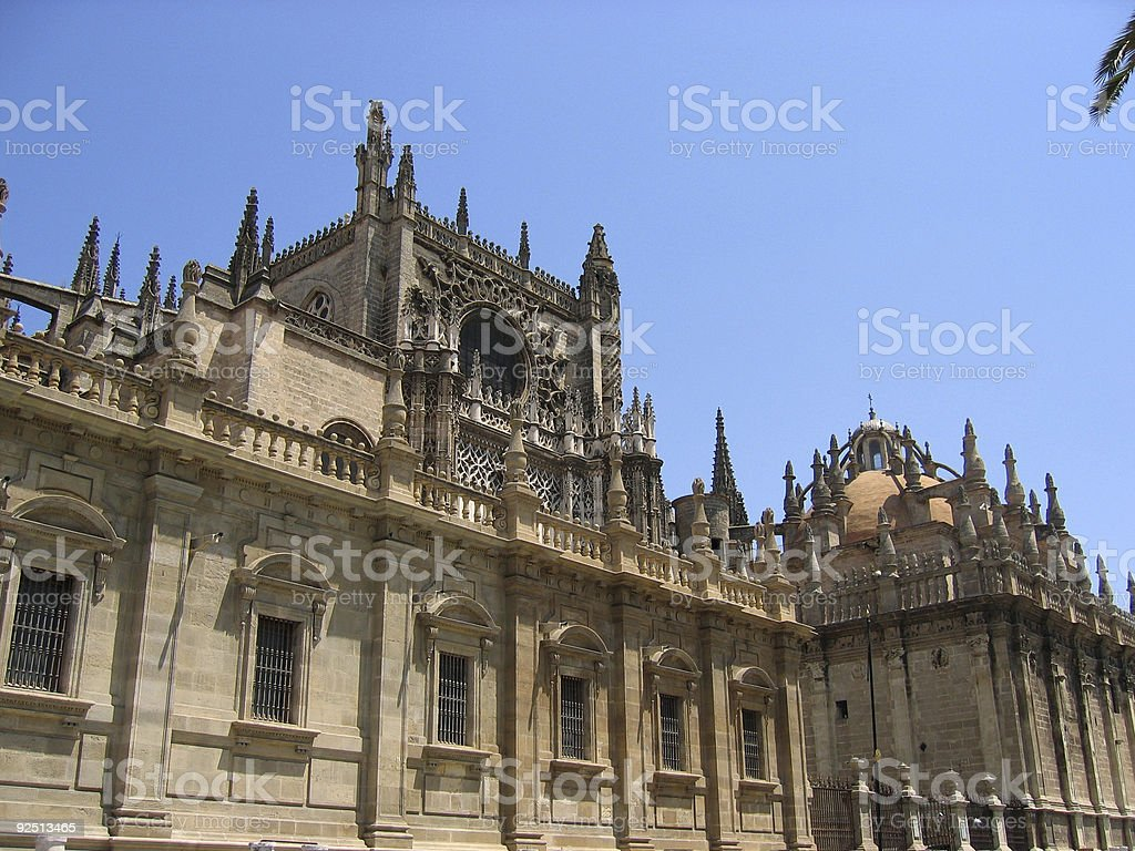 seville cathedral andalucia spain royalty-free stock photo