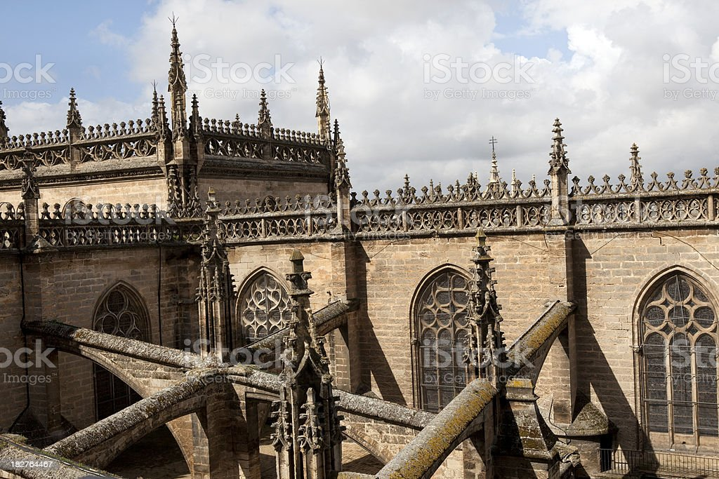 Seville Cathedral Detail in Spain royalty-free stock photo