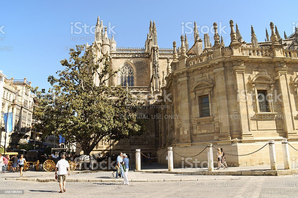 Seville Cathedral royalty-free stock photo