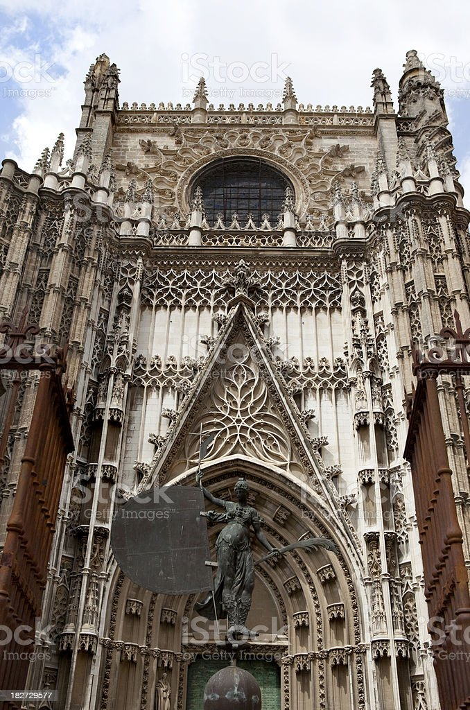 Seville Cathedral Spain royalty-free stock photo