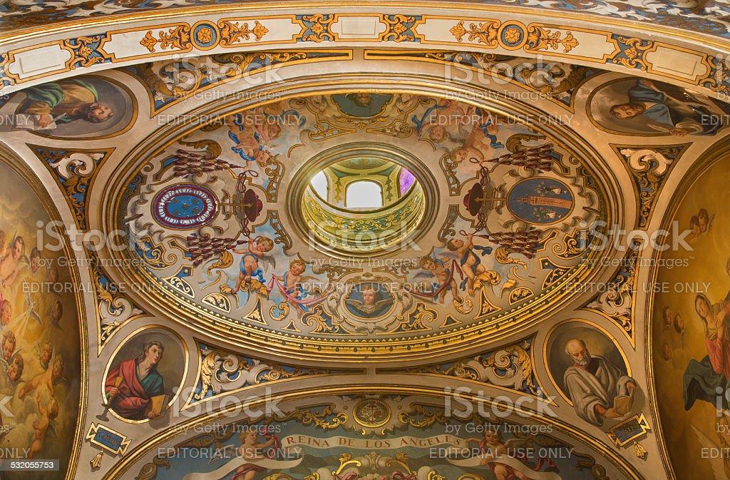 Seville -  cupola in Capilla Santa Maria de los Angeles stock photo
