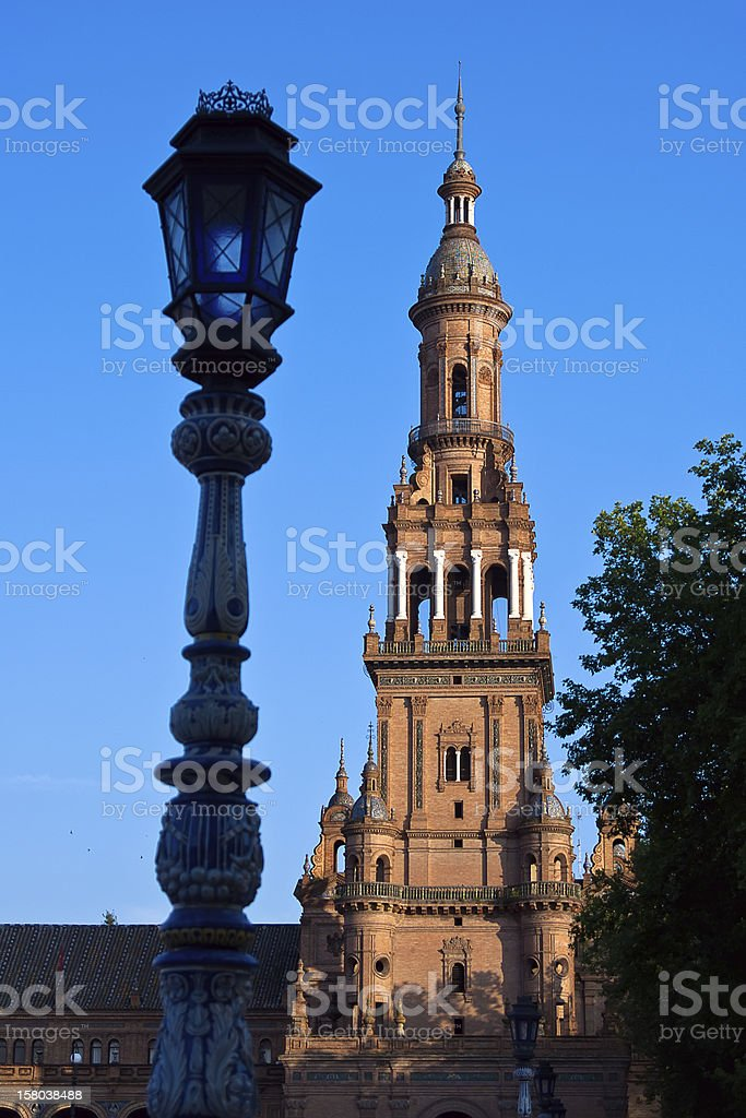 Seville in Andalusia, Spain. Giralda tower of famous cathedral royalty-free stock photo