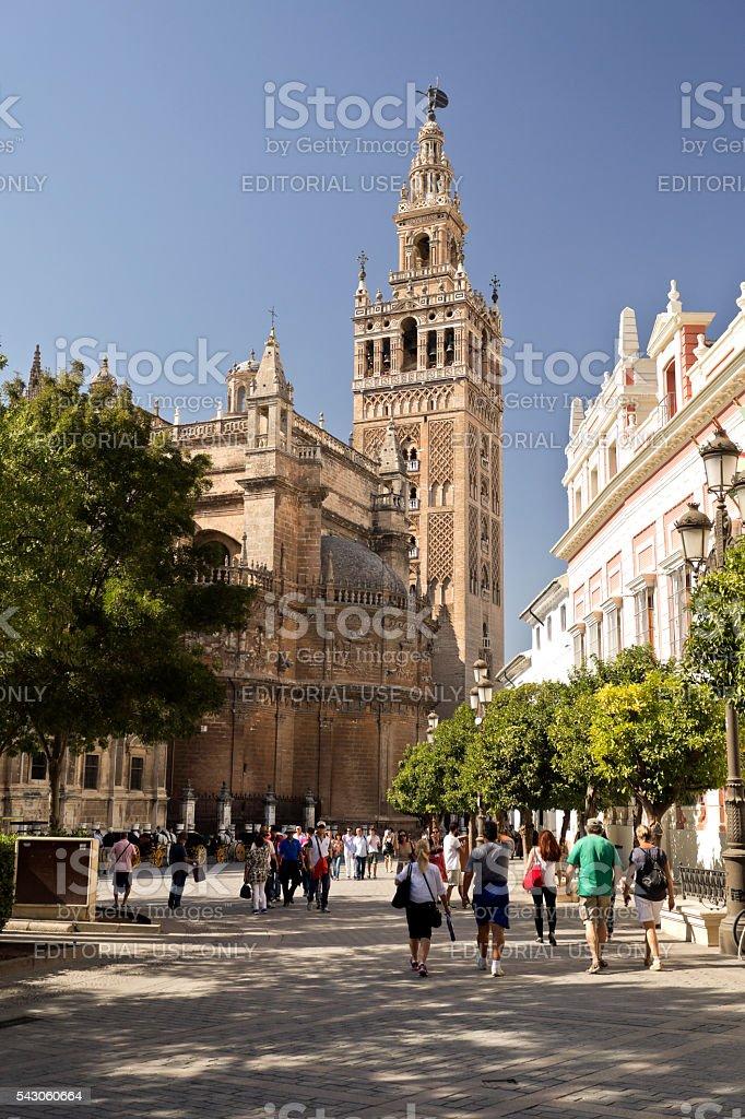 Seville La Giralda stock photo