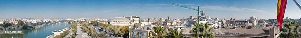 Seville landmarks cityscape panorama royalty-free stock photo