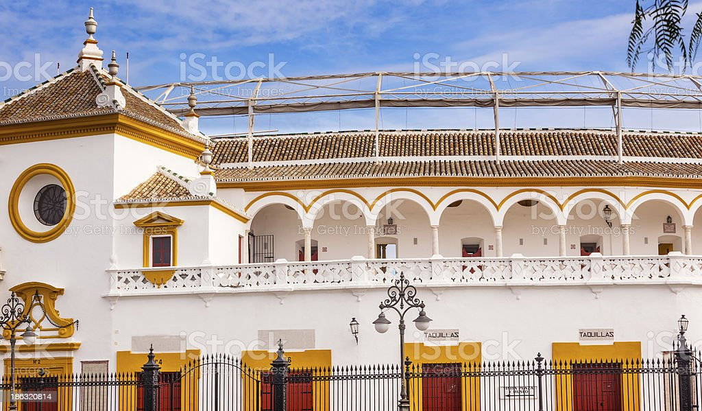 Seville Maestranza Bull Ring Stadium Andalusia Spain stock photo