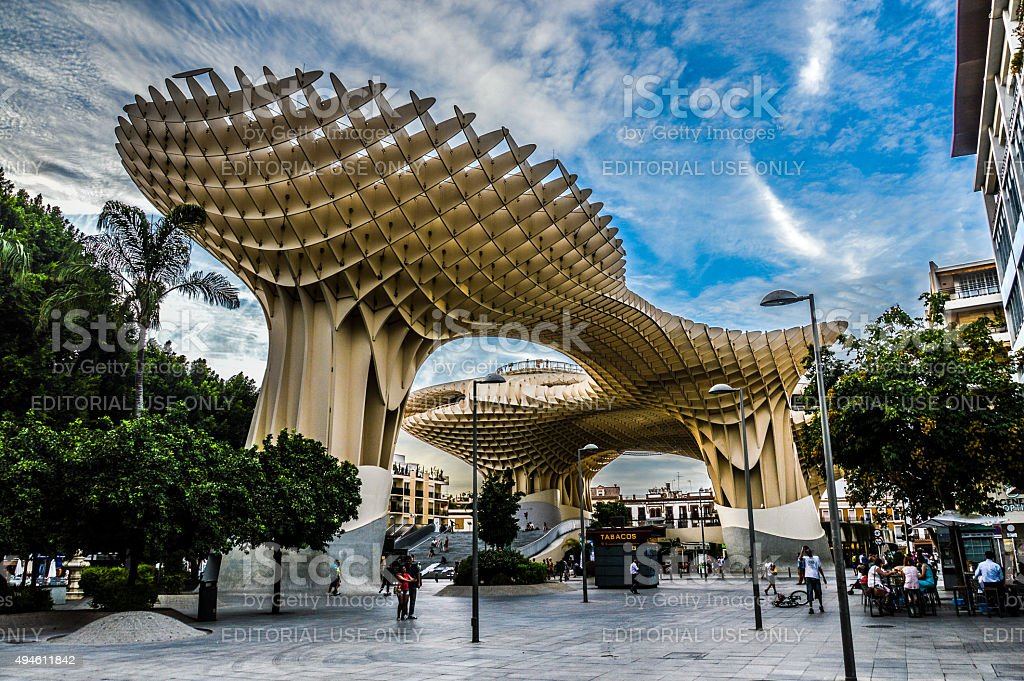 Seville - Metropol Parasol stock photo