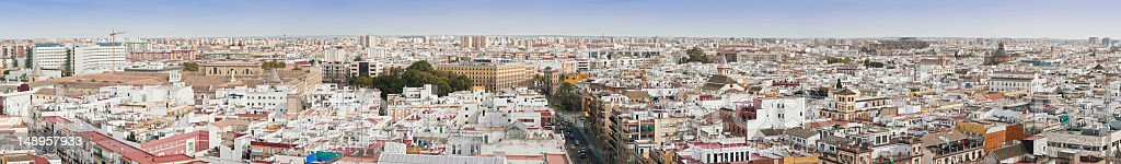 Seville panoramic rooftop cityscape royalty-free stock photo