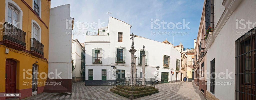 Seville picturesque plaza Santa Cruz royalty-free stock photo