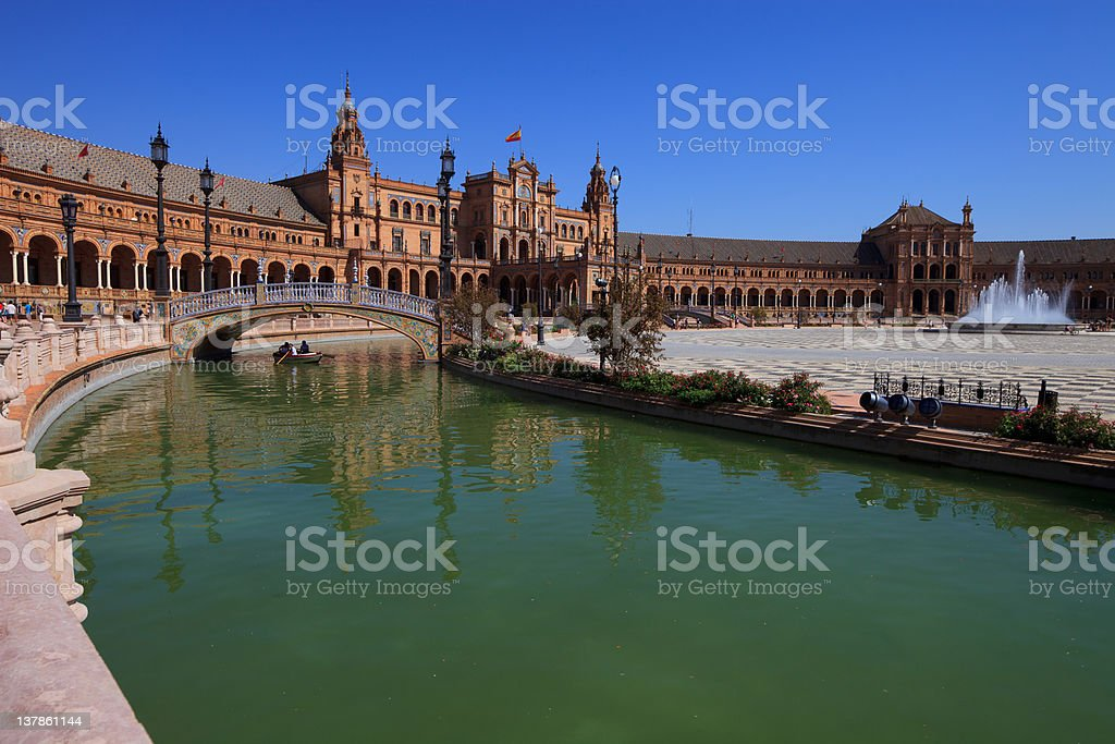 Seville, plaza de espana (spain square) royalty-free stock photo
