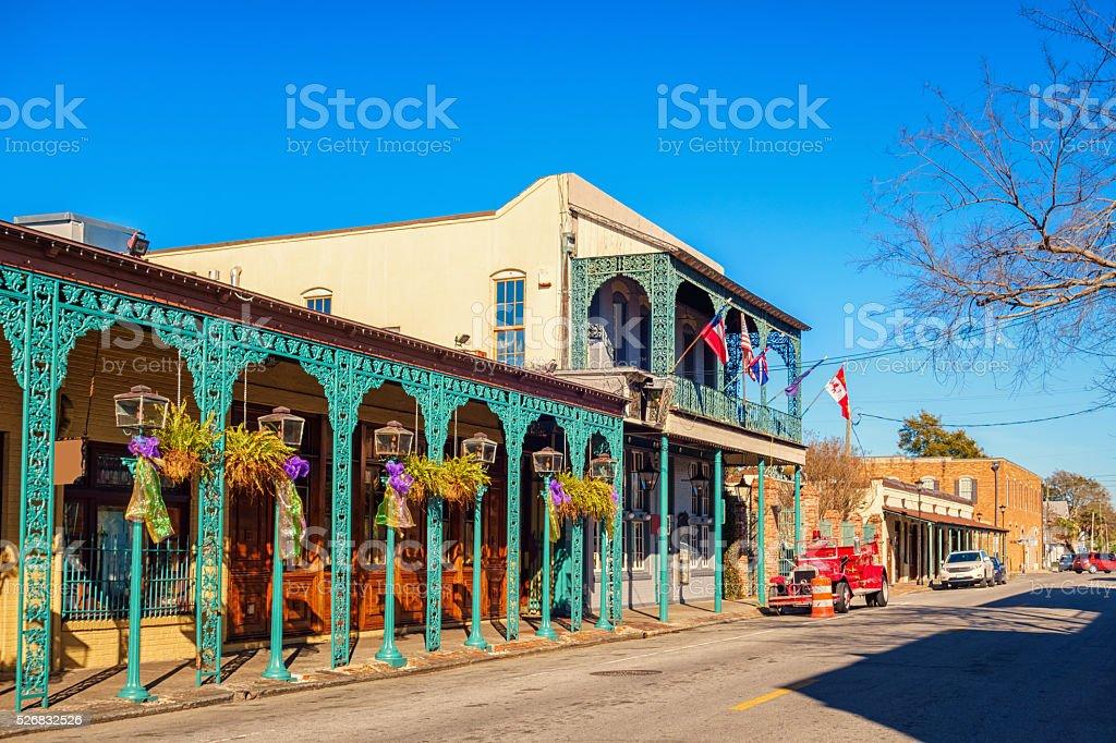 Seville Quarter in Pensacola Florida USA stock photo