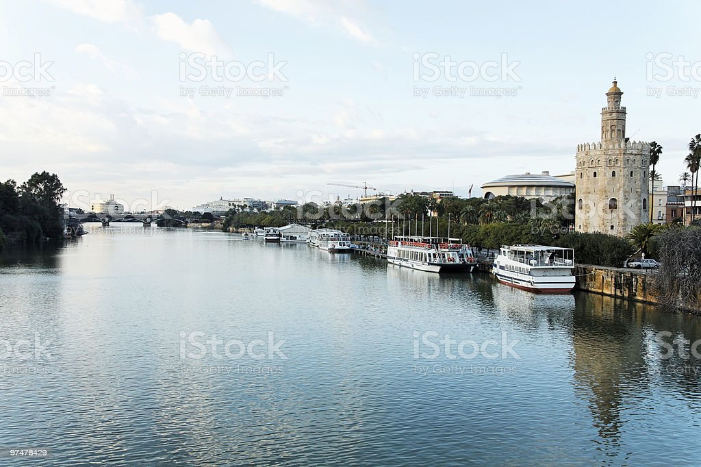 Seville Riverside View royalty-free stock photo