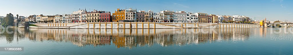 Seville riverside villa vista royalty-free stock photo