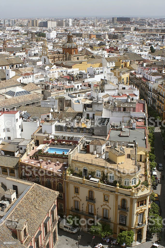 Seville rooftops royalty-free stock photo