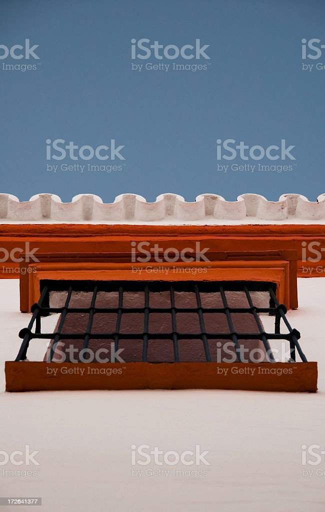 Seville spain window security bar royalty-free stock photo
