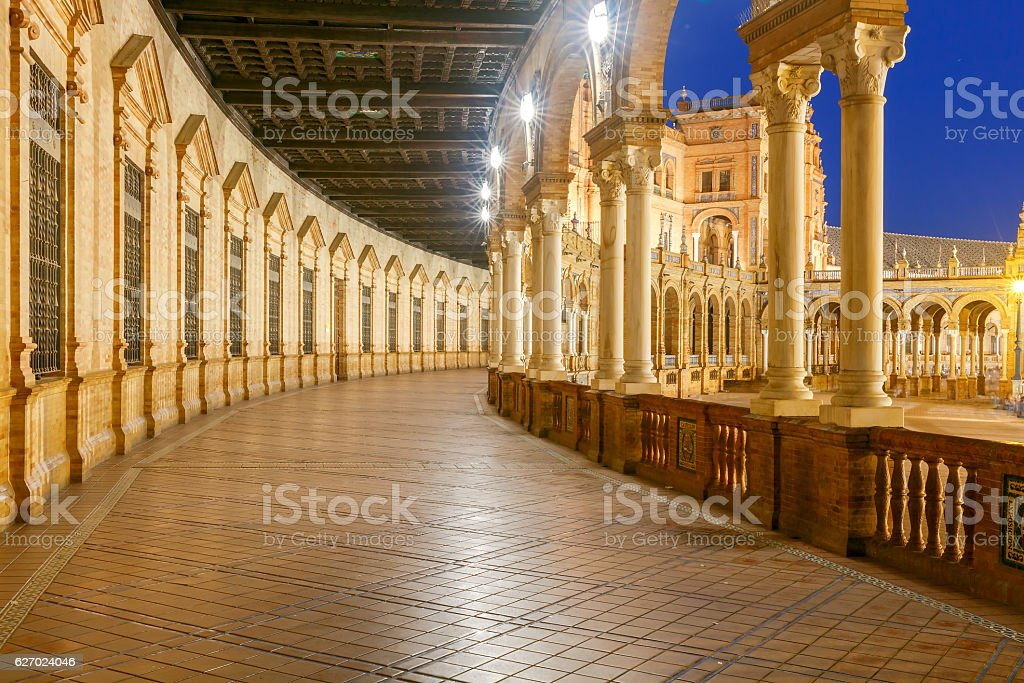 Seville. Spanish Square. stock photo