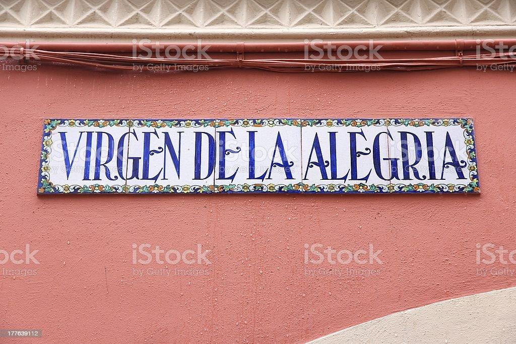 Seville street royalty-free stock photo