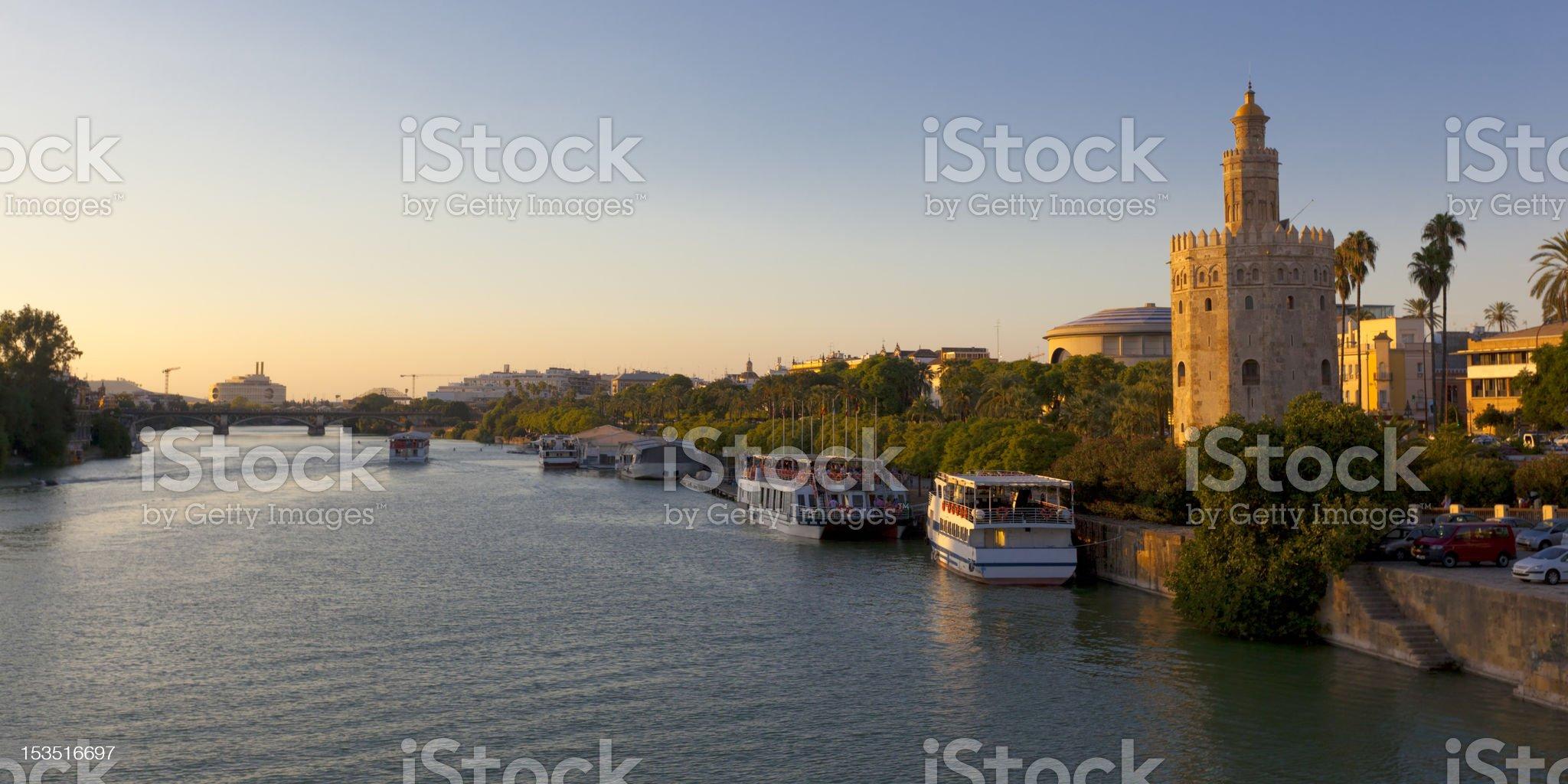 Seville Sunset Panorama Spain royalty-free stock photo