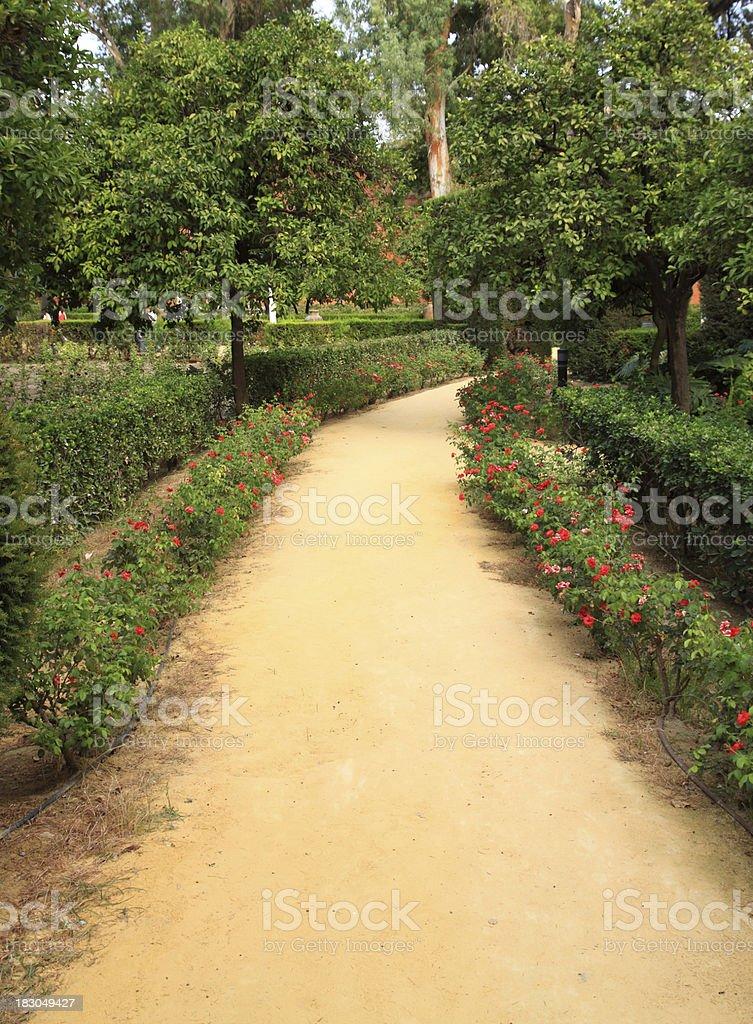 Seville (Sevilla). The Royal Alcazar ( Reales Alcazares ). Gardens. royalty-free stock photo