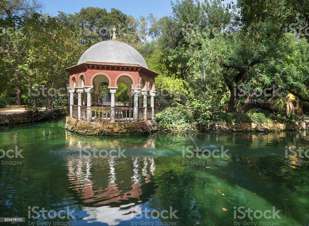 Seville - The summer house in Maria Luisa park stock photo