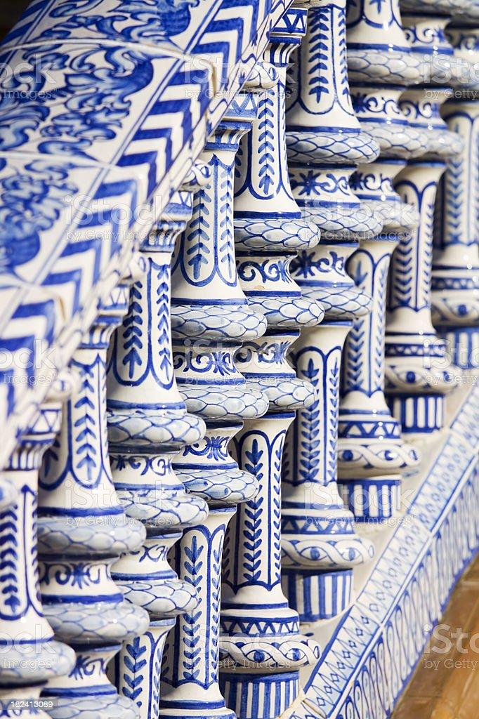 Seville Tiled Bridge royalty-free stock photo