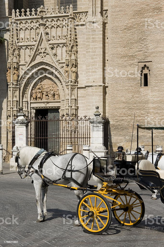 Seville - Tourist horse carriage royalty-free stock photo
