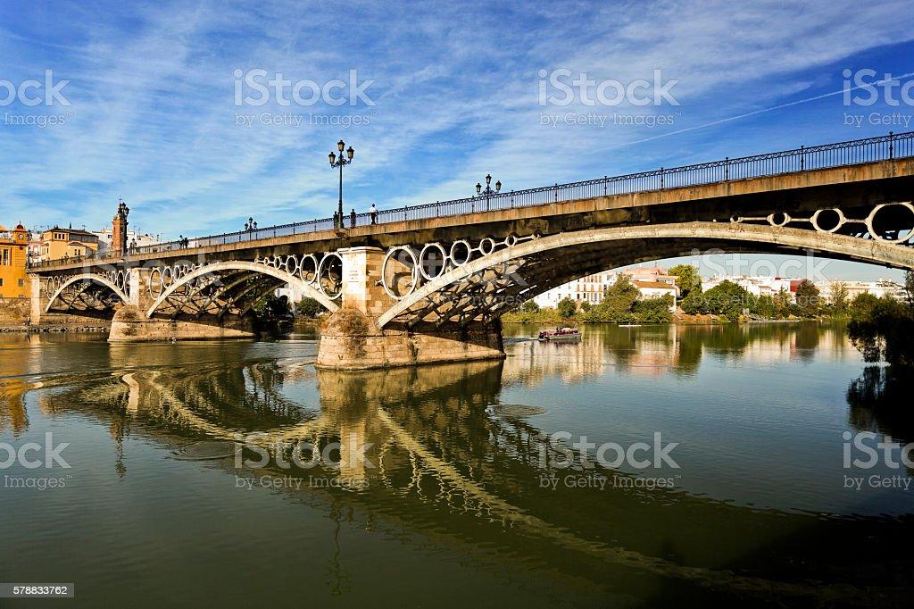 Seville Triana Bridge stock photo