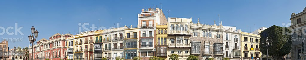 Seville vibrant villas Plaza San Francisco royalty-free stock photo