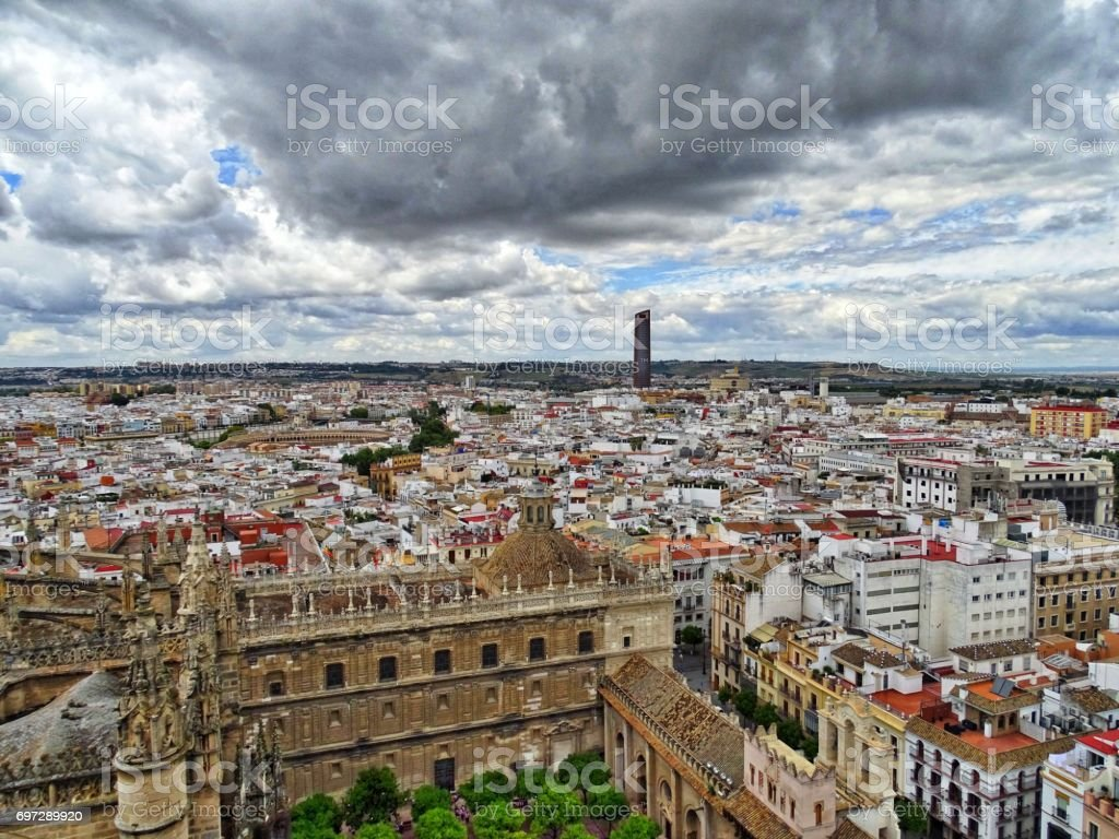 seville view stock photo