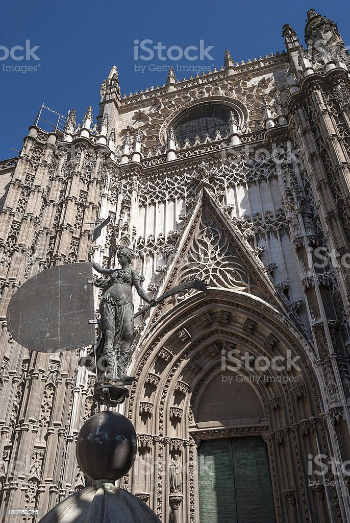 Seville's Cathedral royalty-free stock photo