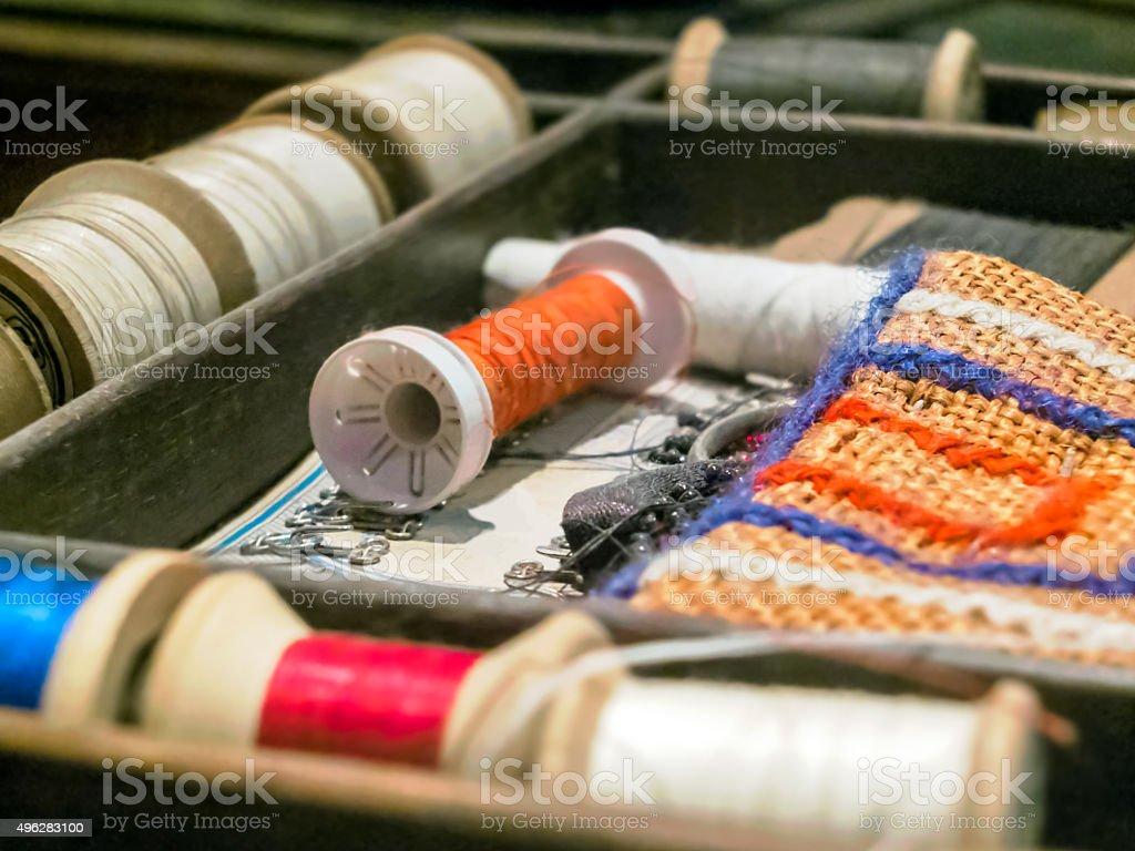 Sew stock photo