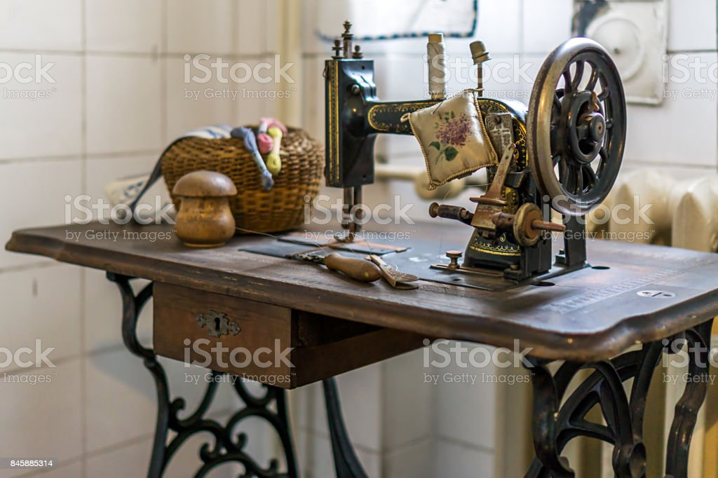 Sew stock photo