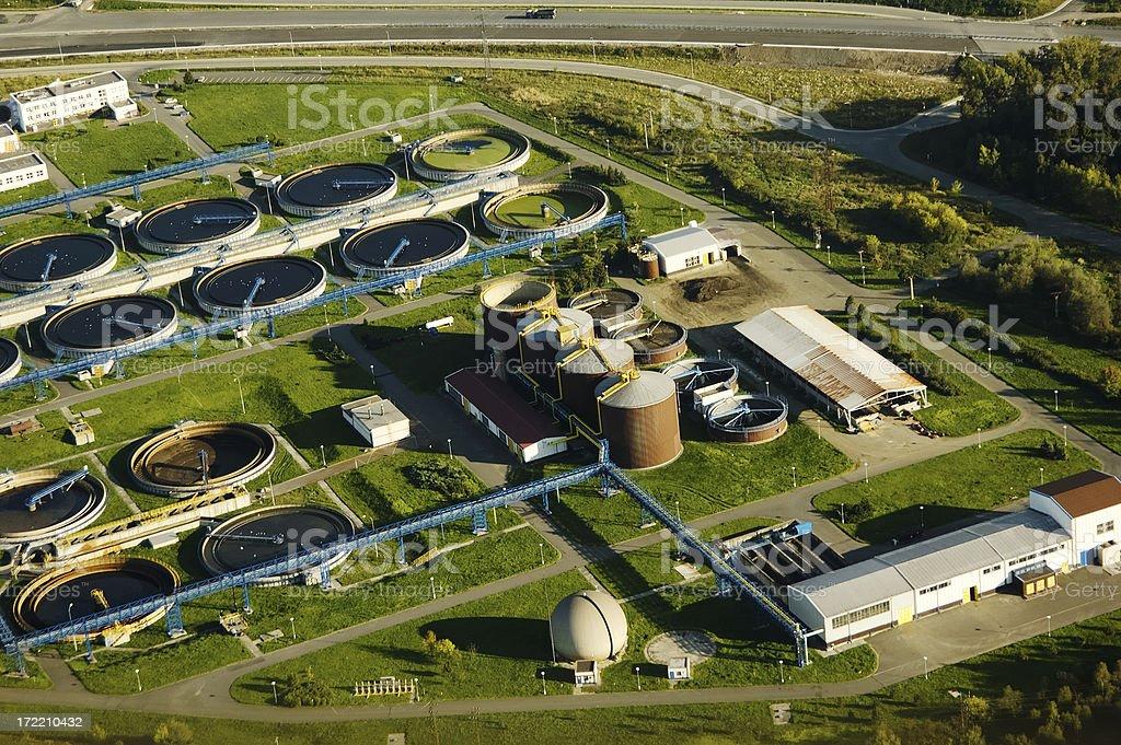 Sewage clarification plant royalty-free stock photo