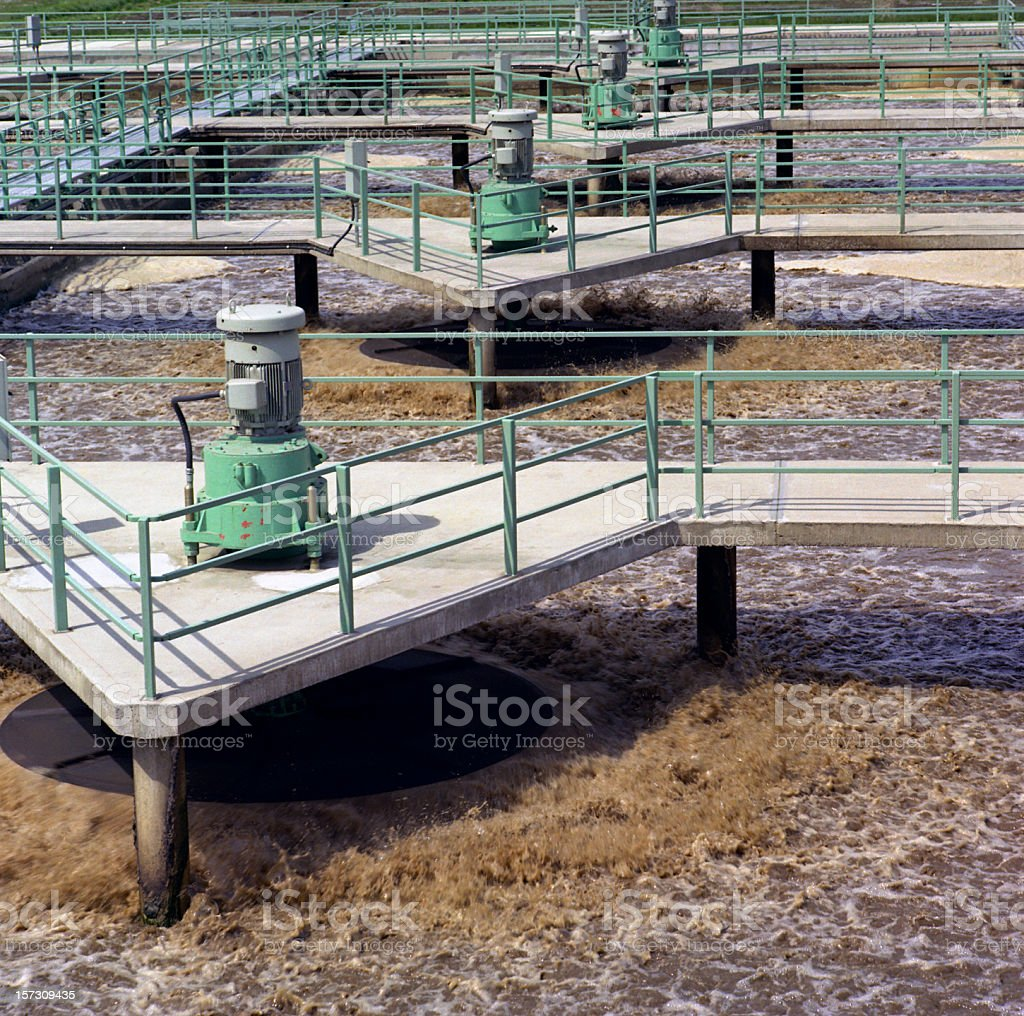 Sewage Farm stock photo