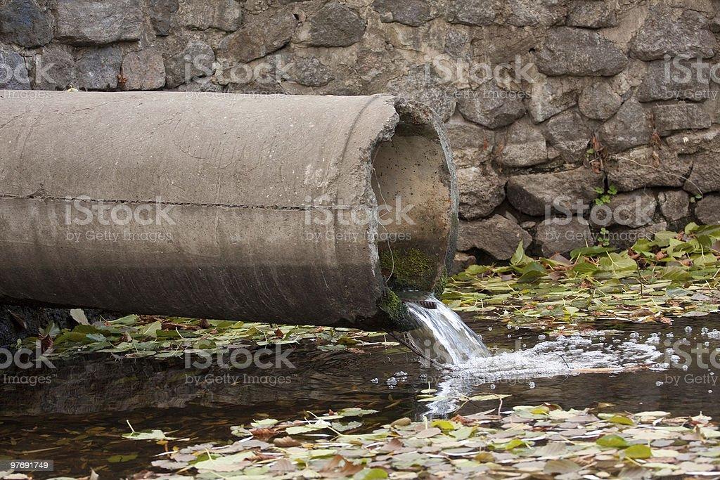 sewage pipe stock photo
