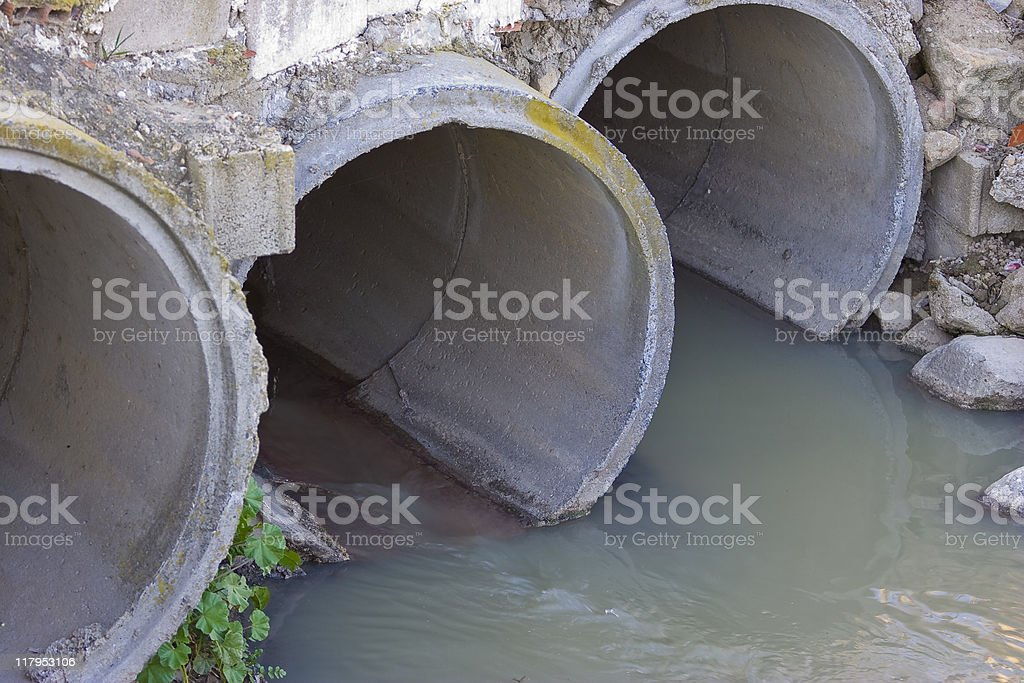 Sewage pipes royalty-free stock photo