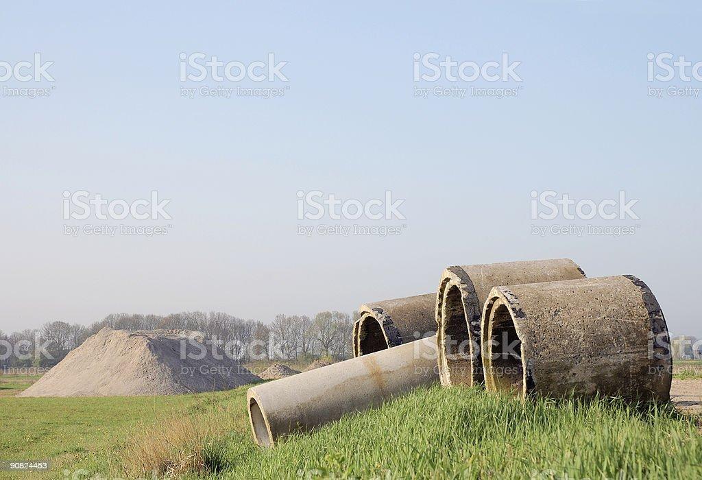Sewage Pipes royalty-free stock photo