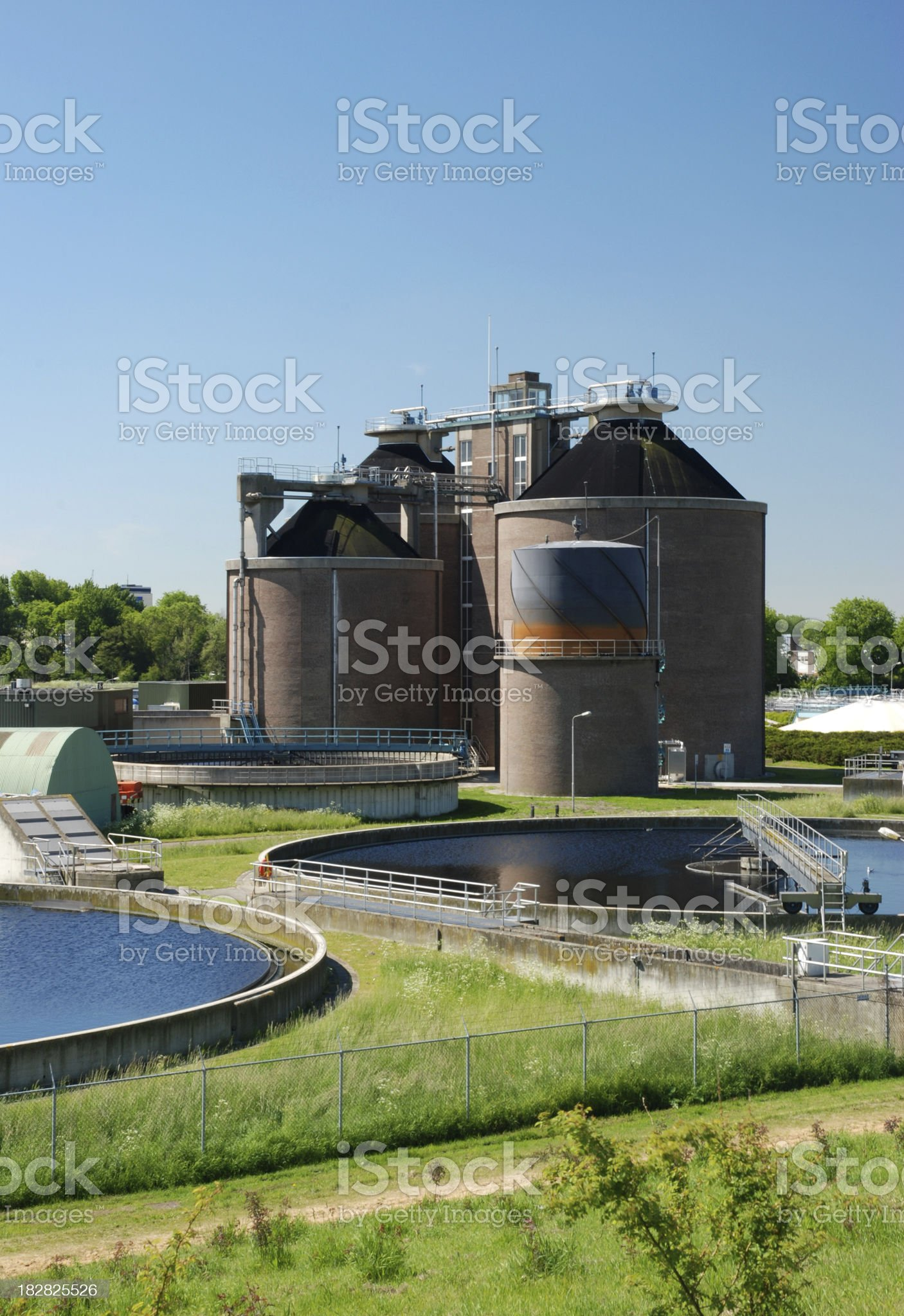 Sewage plant royalty-free stock photo
