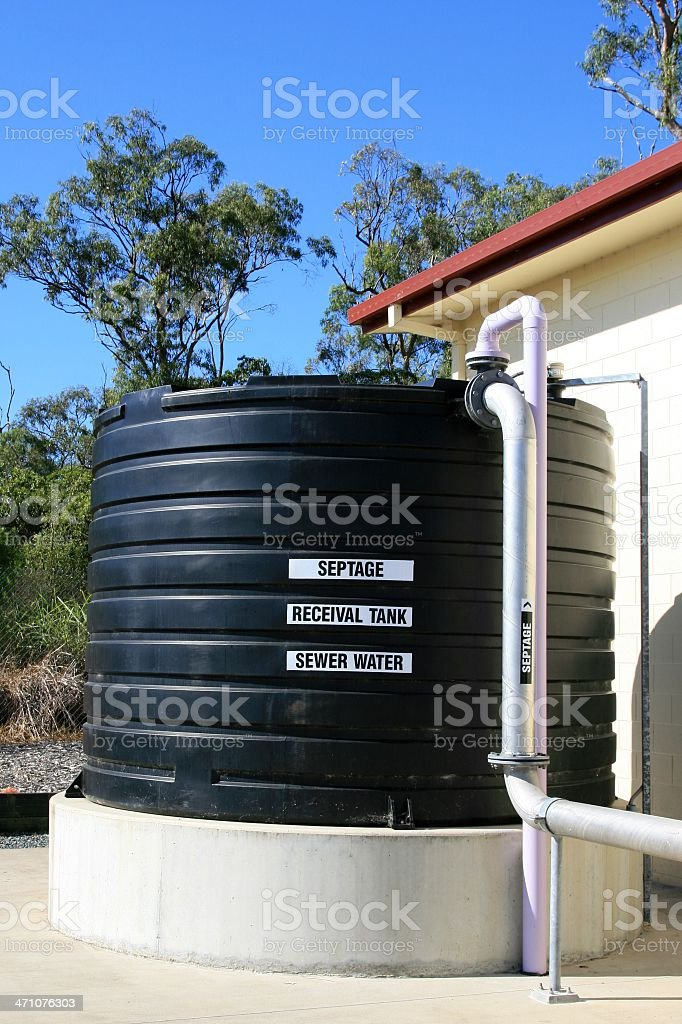 Sewage tank at water treatment plant royalty-free stock photo