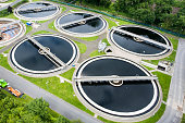 Sewage treatment plant - aerial view