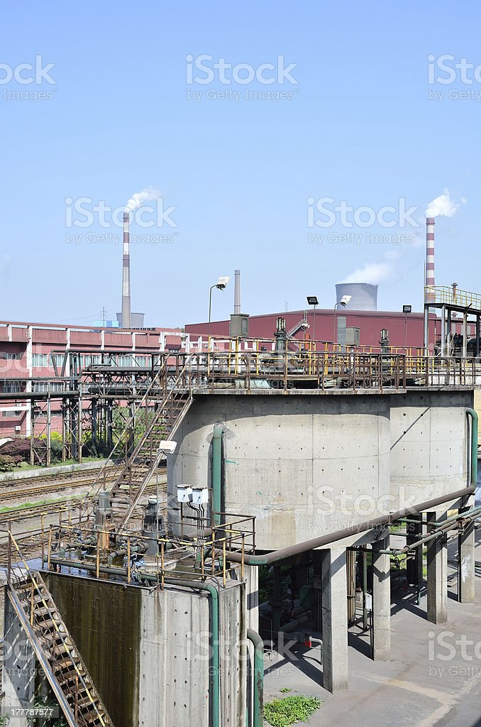 Sewage treatment plant royalty-free stock photo
