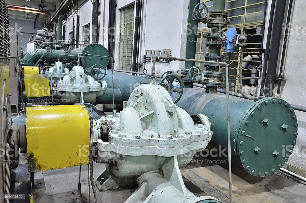 Sewage treatment pumping station royalty-free stock photo