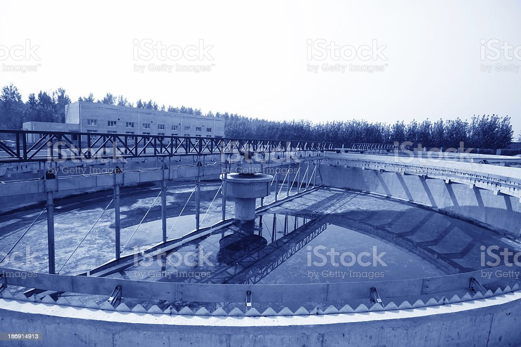 sewage treatment works building facilities royalty-free stock photo